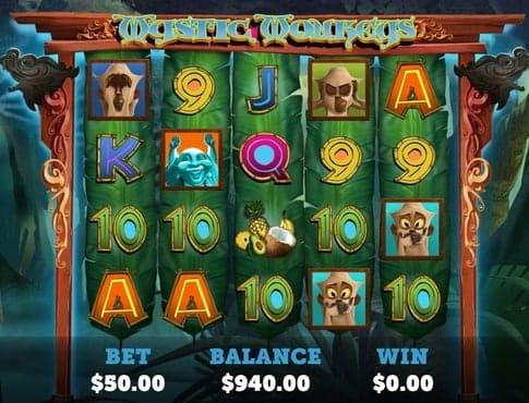 Символы игрового автомата Mystic Monkeys