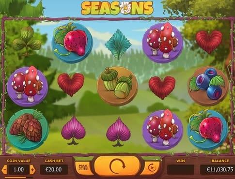 Символы онлайн автомата Seasons