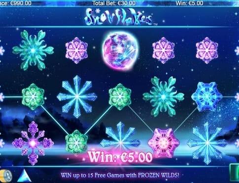 Выигрышная комбинация в Snowflakes онлайн